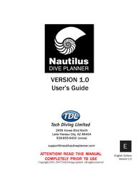 Nautilus DIVE PLANNER Version 1.0 User Manual