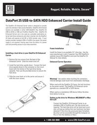 CRU DP25 Carrier Only, USB Host-to-SATA HDD 8531-3370-9500 Leaflet