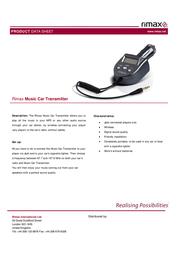 Rimax Music Car Transmitter 2001067105 Data Sheet
