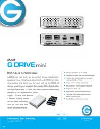 G-Technology G-DRIVE-mini 250GB 5400rpm 909104-01 Leaflet