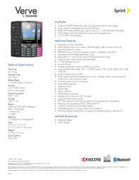 Sprint Kyocera Verve KYS3150PK?HW Folheto