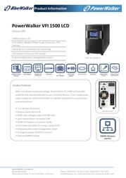 BlueWalker VFI 1500 LCD VFI1500LCD Leaflet