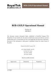 RoyalTek reb-1315lp User Manual