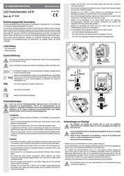 Xbk Kabel LED outdoor floodlight 3.6 W Neutral white 20560 Silver 20560 Data Sheet