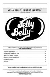 Jelly Belly Slushi Express Manual De Usuario