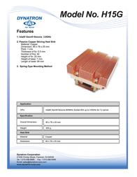 Dynatron H15G Leaflet