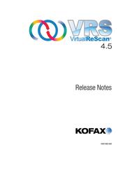Kofax VirtualReScan 4.5 VP-W004-00U1 User Manual