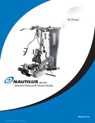 Nautilus BE STRONG. NS 600X User Manual
