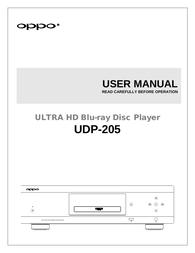 Oppo UDP-205 Owner's Manual