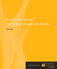 Mintek High Definition Personal Video Recorder User Manual