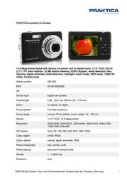 Praktica Luxmedia 12-Z4 256926 Leaflet