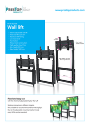 PresTop PT-M-Walllift Black - Electric walllift PT-M-WALLLIFT BLACK Leaflet