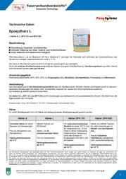 Kcl 236390 Epoxide resin (200 g) and hardener L (80 g) 1 Set 236390 Data Sheet