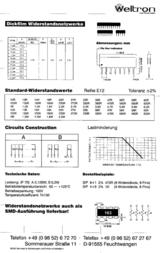 Yageo Resistor networks 'SIP' 4+1 RNL05AGB-1K RNL05AGB-1K Data Sheet