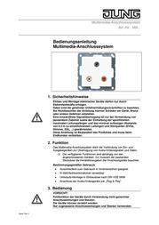 JUNG Insert USB port LS 990, LS design, LS plus Cream-white MALS1122 MALS1122 User Manual