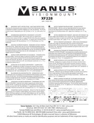 Sanus Systems XF228 User Manual
