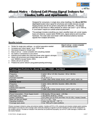 Wi-Ex zBoost zForce YX540 Leaflet