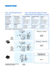 Mentor Test socket Socket, horizontal mount 1823.2233 1 pc(s) 1823.2233 Data Sheet