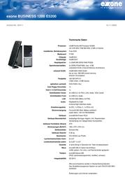 Extra Computer exone BUSINESS 1200 E5200 46411 User Manual