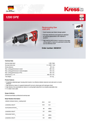 Kress 1200 SPE 06038101 Leaflet