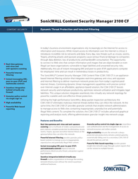 SonicWALL Content Security Manager 2100 Content Filter - Update Service (500 Users) 01-SSC-6010 Leaflet