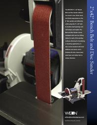 Wilton Belt And Disc Sander Leaflet