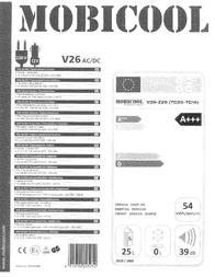 MOBICOOL Cool Box Litres V 12 V, 230 V Cobalt-blue 25 l 9103501060 Data Sheet