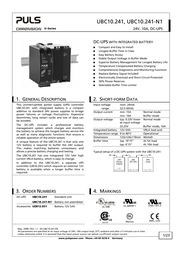 Puls UBC10.241 DIN-Rail UPS Specification Guide