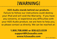 H2O Audio iSH2-5A1 User Manual