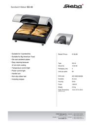 Steba SG 40 18.40.00 Leaflet