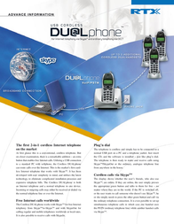 RTX USB Cordless DUALphone 95101706 Leaflet