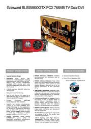 Gainward BP8800GTX-768-DD 471846200-8262 Leaflet