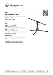 König & Meyer 259/1 25910-300-55 Leaflet