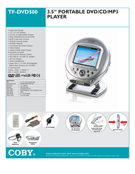 Coby TF-DVD500 TFDVD500 Leaflet