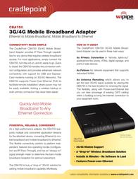 Cradlepoint CBA750 Leaflet