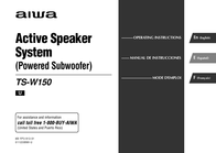 Aiwa TS-W150 Operating Guide