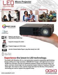 AAXA Technologies LED Showtime 3D MP-300-02 Leaflet