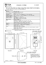 TOA F-1000W Specification Guide