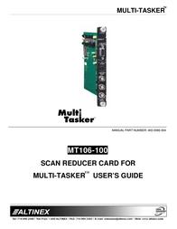 ALTINEX Scanner MT106-100 User Manual