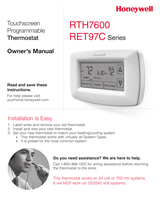 Honeywell 7-Day Programmable Thermostat (RTH7600D) Owner's Manual