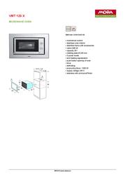 Mora VMT 120 X 389612 Leaflet