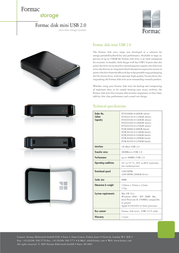 Formac Disk Mini Portable Drive 250GB USB 2.0 FUO20250-0 Leaflet