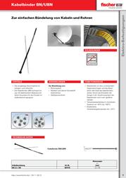 Fischer (L x W) 200 mm x 4.6 mm Black 100 pc(s) 87494 Data Sheet