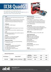 abit IX38 QuadGT IX38QUADGT Leaflet