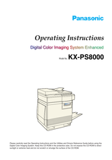 Panasonic KX-PS8000 User Manual