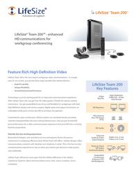 LifeSize Team 200 1000-0000-1117 Leaflet