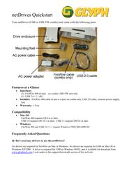 Glyph ndfw1b-160 Quick Setup Guide