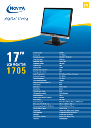"Novita 1705 17"" TFT Display N10000 Leaflet"