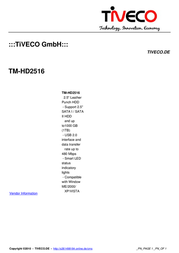 Tiveco TM-HD2516 Leaflet