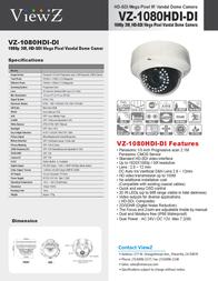ViewZ VZ-1080HDI-DI Leaflet